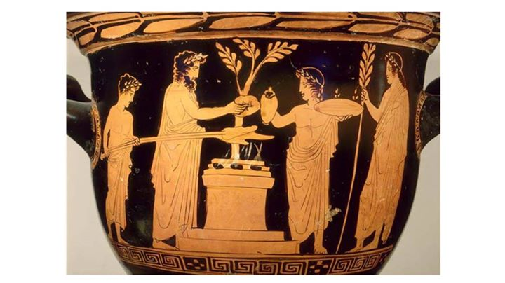 Religious Drama Sacred Space On Ancient Greek Vases And Reliefs At