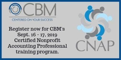 Certified Nonprofit Accounting Professional Training - Sept 16-17 2019