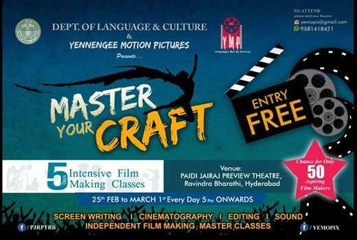 Master Your Craft - 5days intensive film Making Classes