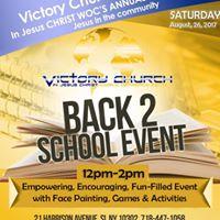 4th Annual Jesus in the Community Back 2 School Event