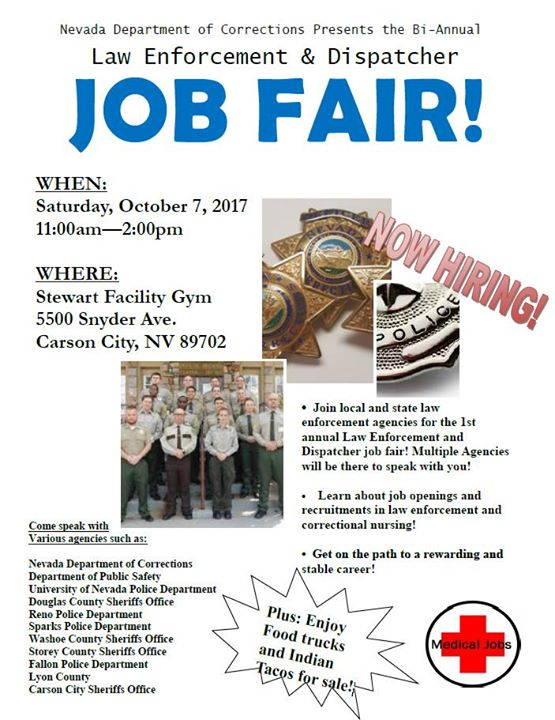 Job Fair Nevada Department Of Corrections At 5500 Snyder Ave