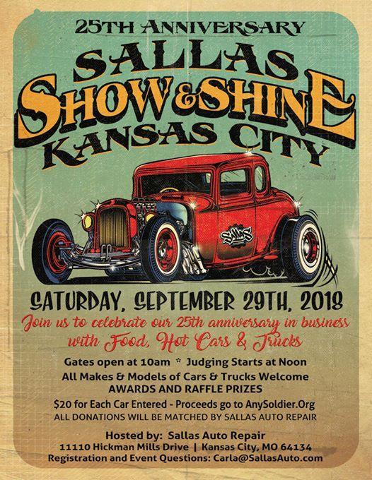 Sallas SHOW SHINE Kansas City Car Show Bash At Sallas Auto Repair - Car show kansas city today