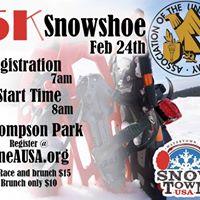 Snow Shoe 5k and Brunch Thompson Park