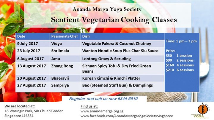 Vegetarian Cooking Class Vegetable Pakora Coconut Chutney