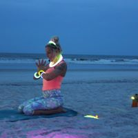 GLOW Yoga at Jax Beach