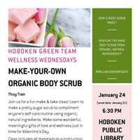 Wellness Wednesdays Make-Your-Own Organic Body Scrub