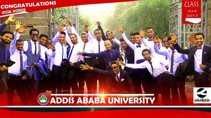 Graduation from Addis Ababa University at the Mellinium Hall