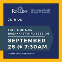 Full-Time MBA Info Session Breakfast