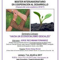 Coloquio con Jorge Riechmann - Hacia un Ecosocialismo descalzo
