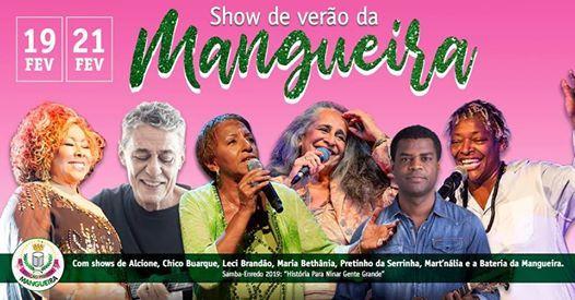 Show de Vero da Mangueira no Vivo Rio  ltimos ingressos