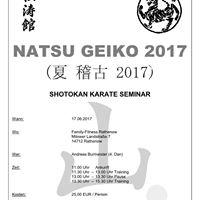 NATSU GEIKO 2017 (Shotokan Karate Seminar)