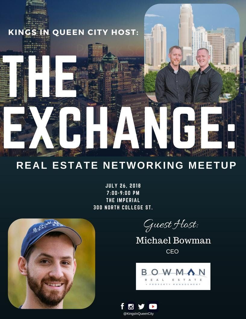 THE EXCHANGE Real Estate Networking Meetup