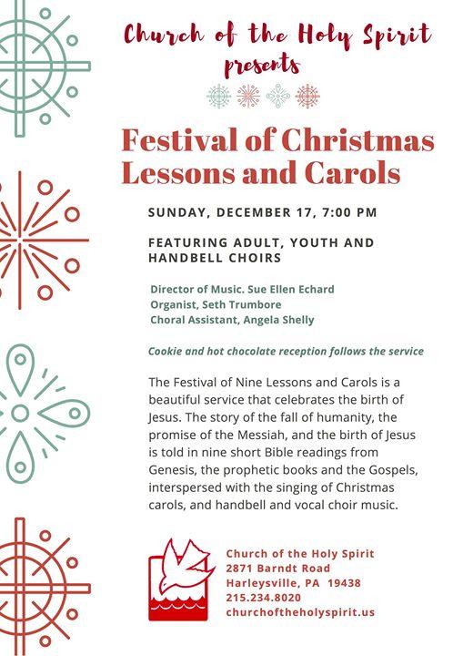 festival of christmas lessons carols