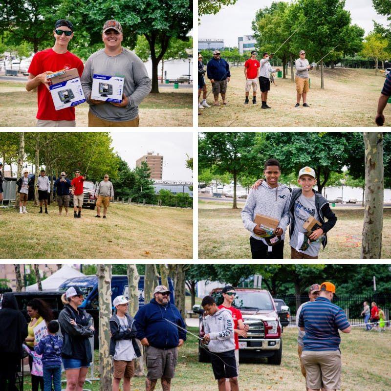 High School Fishing Skills Challenge at Ikes Free Family Fun Fest 2019