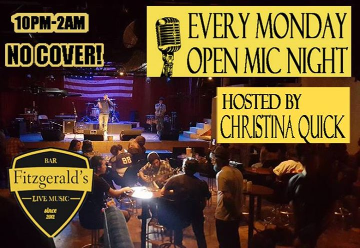 Monday Open Mic Night With Host Christina Quick At