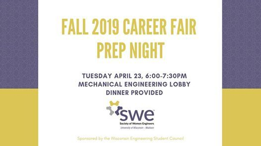 Fall 2019 Career Fair Prep Night at Mechanical Engineering Lobby