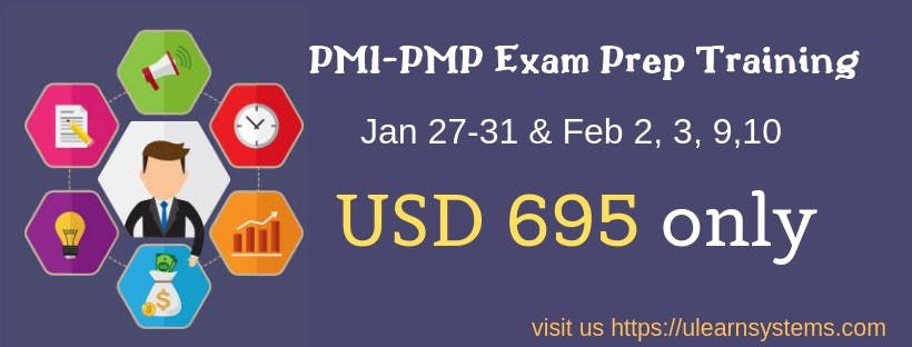 PMP (PMBOK6th Edition) Online Exam Prep Training - Only USD695 - Ulearn Systems