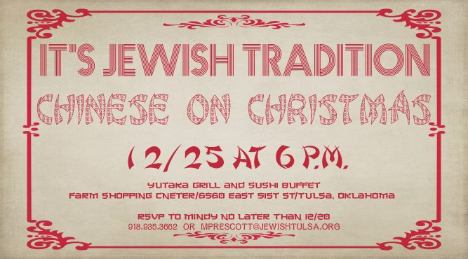 its jewish tradition chinese food on christmas at yutaka grill sushi buffet tulsa