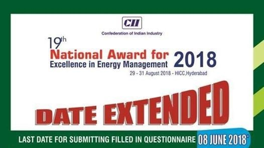 CII National Award for Excellence in Energy Management 2018
