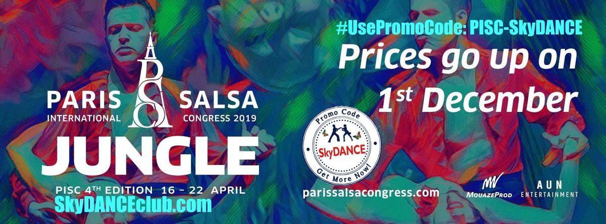 Promo Code PISC-SkyDANCE for Paris International Salsa Congress PISC