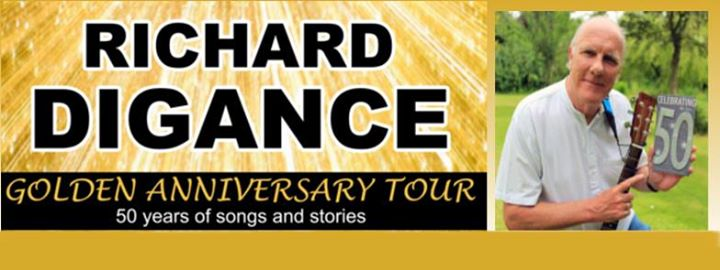 Richard Digance Golden Anniversary tour banner