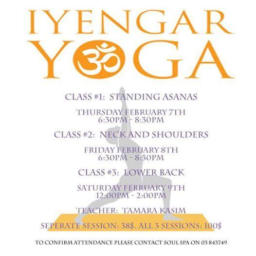 Iyengar Yoga Full Range workshops