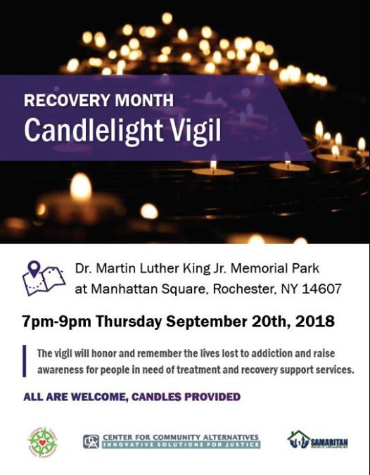 Recovery Month Candle Light Vigil At Martin Luther King Jr Park At
