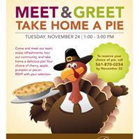 Meet &amp Greet Take Home A Pie
