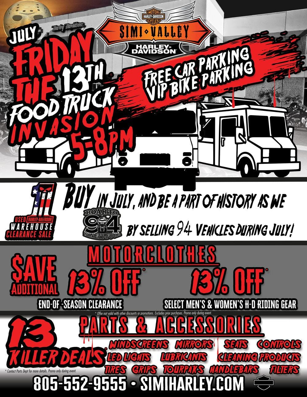simi harley july friday the 13th food truck invasion at simi valley