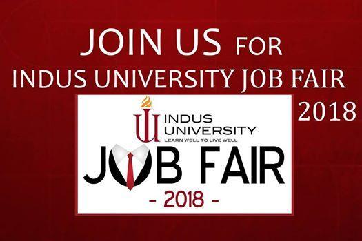 Indus University Job Fair 2018
