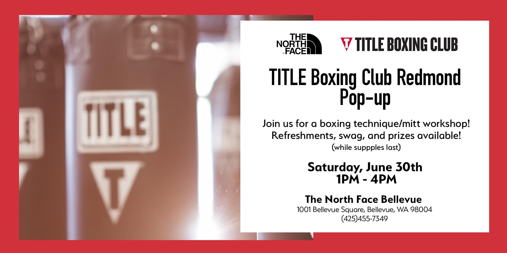 TITLE Boxing Club Pop-up Event at The North Face Bellevue