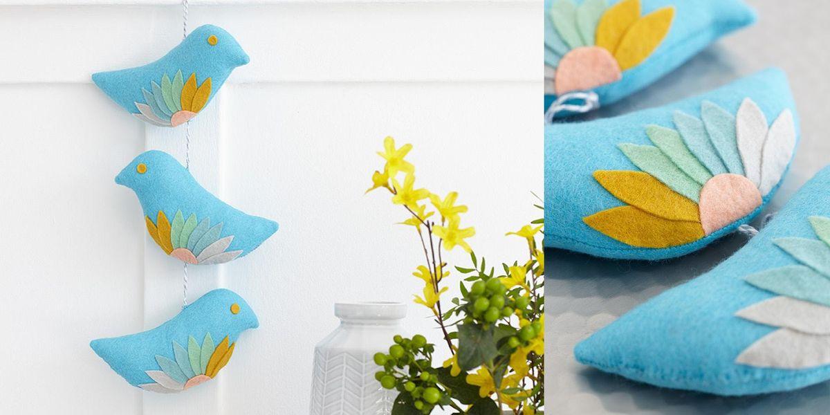 Boho Felt Birds Decoration