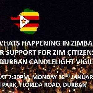 Candlelight Vigil for Zimbabwe