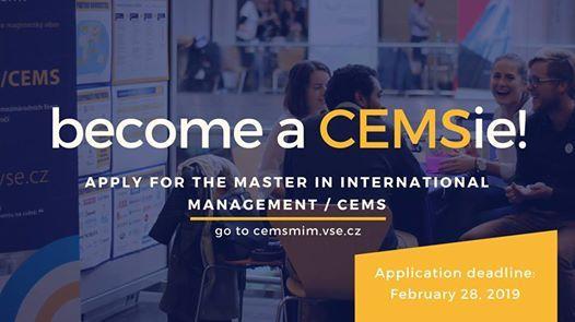 Application deadline for CEMS