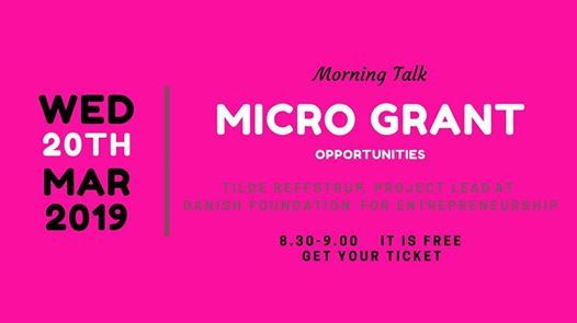 Morning Talk Micro Grant opportunities