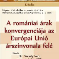 Szkely Imre A romniai rak konvergencija az Eurpai Uni rs