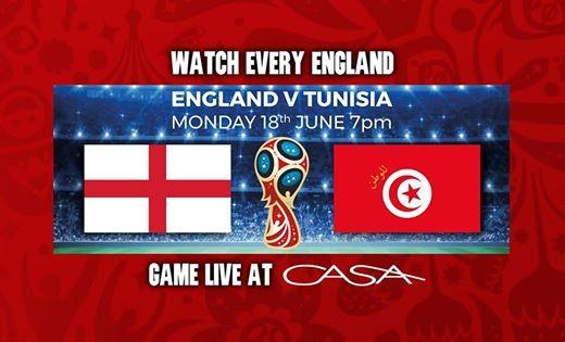 England V Tunisia  Live at CASA  Jumbo Courtyard Screen  BBQ