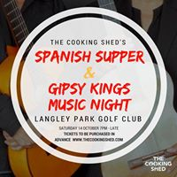 Spanish supper night with Gipsy Kings music from the Andalus duo