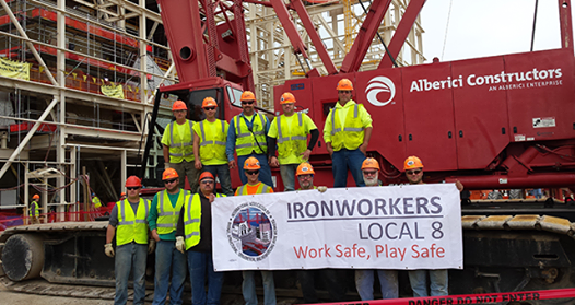 Union Meeting at Iron Workers Local Union #8, Elm Grove