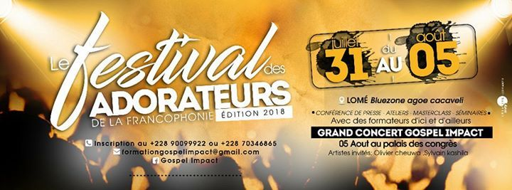 """Résultat de recherche d'images pour """"Festival des Adorateurs de la Francophonie"""""""