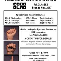 Fall ASL Classes