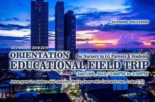Orientation of Educational Field Trip for Nursery to Grade 5