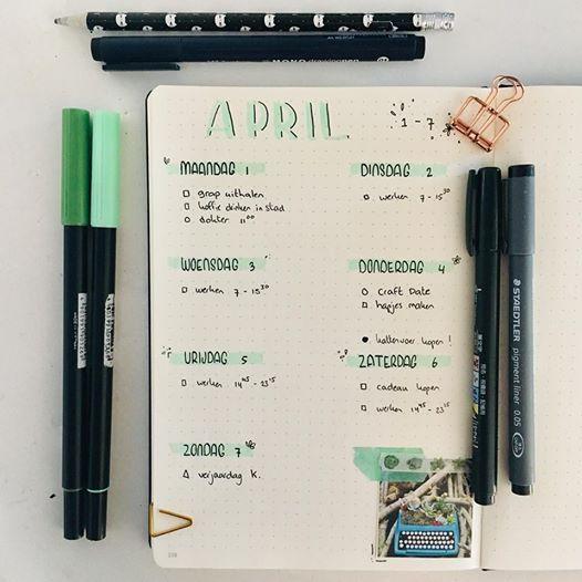 Craft Date bullet journal
