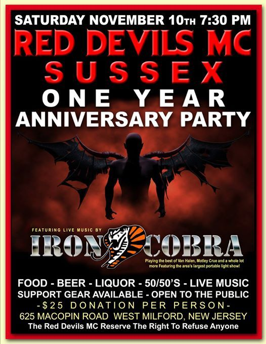 Iron Cobra LIVE at Red Devils MC Sussex NJ Anniversary Party!