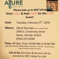 WICs ManiCURES &amp PedciCURES for the CURE for Cancer