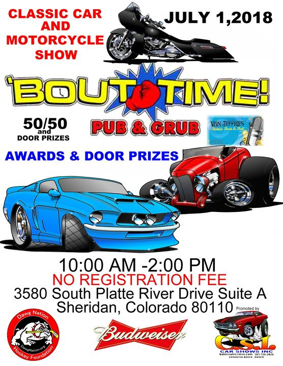 Bout Time Pub Grub Car Show At S Platte River Dr Englewood - Englewood car show