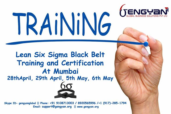 Six Sigma Black Belt Training And Certification At Mumbai Bangalore