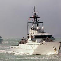 Bezoek Brits militair schip HMS TYNE aan Antwerpen