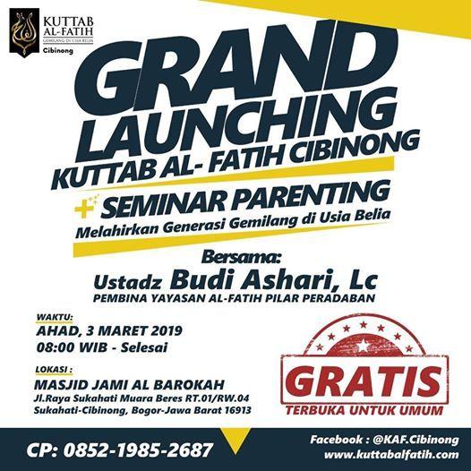 Info Launching Kuttab Al-Fatih Cibinong