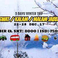 3 Days Snowy Trip To SwatKalam &amp Malam Jabba (22-25 Dec17)